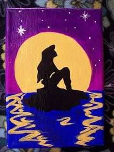 Disney Ariel painted canvas.