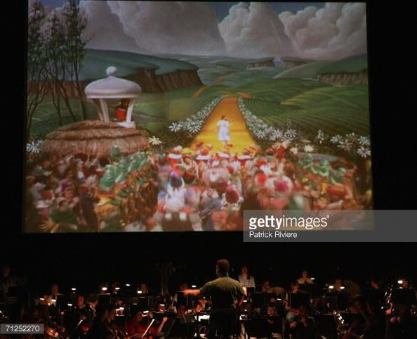 The Sydney Symphony Orchestra during a rehearsal of 'The Wizard of Oz' in front of a big screen in the Concert Hall of the Sydney Opera House June 21, 2006 in Sydney, Australia. The classic 1939 'The Wizard of Oz' movie will be shown at Sydney's famous Opera House, with all the original orchestral sound removed and replaced with the musical score played live by the Sydney Symphony.