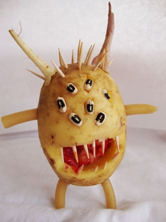 Potato Monster from the Oneota Community Food Co-op Kid's Fruit Sculpture Contest