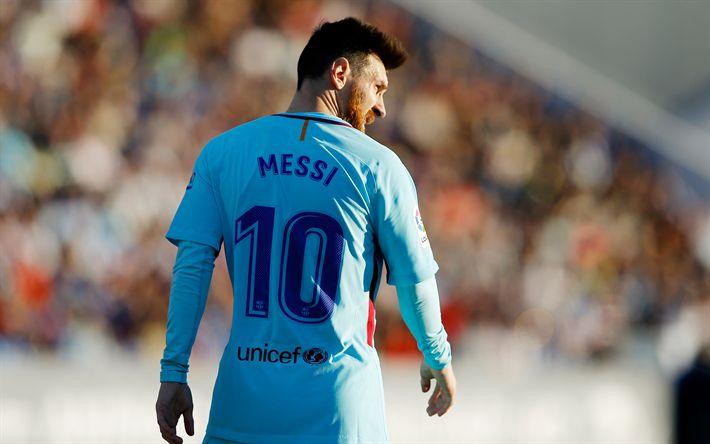 Download wallpapers Lionel Messi, Barcelona, Catalan football club, 4k, football star, Spain, La Liga