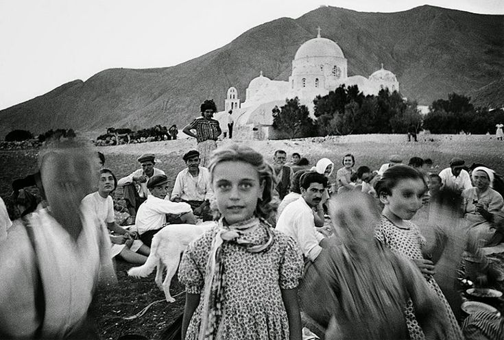 Perissa beach, Santorini island, Greece, 1956 by William Klein