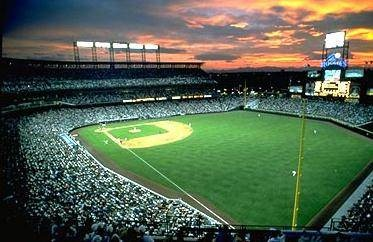 Rockies Game at sunset, doesn't get much sweeter!