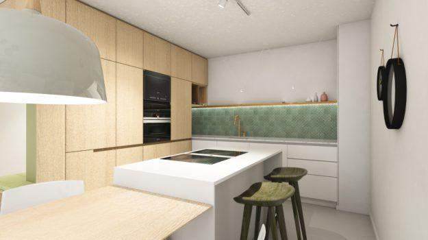 Návrh kuchyne - interiér Slnečnice, Bratislava - Interiérový dizajn / Kitchen interior by Archilab