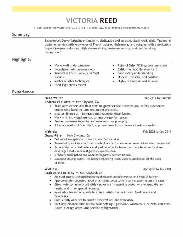 Fast Food Service Resume Unique Job Description For Resume Fast Food Sample Objective Service Mana In 2020 Resume Examples Good Resume Examples Teacher Resume Template
