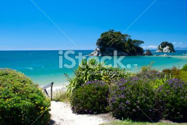 Little Kaiteriteri Beach Access, Tasman Region, New Zealand Royalty Free Stock Photo