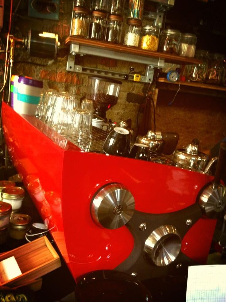Slayer Machine in red, at Symmetry Cafe, Singapore
