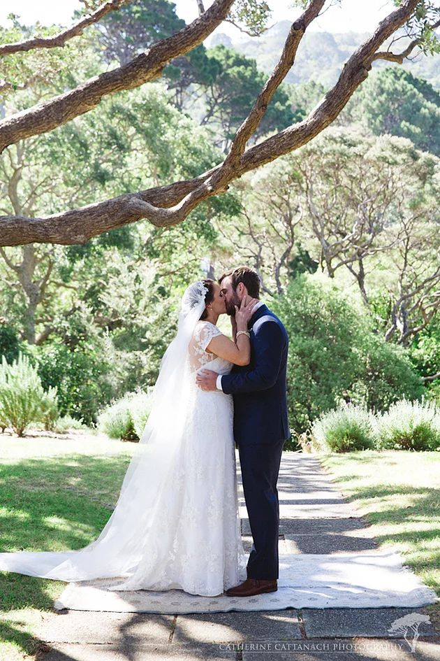 Our bride Janelle wearing the most incredible custom Sophie Voon veil!