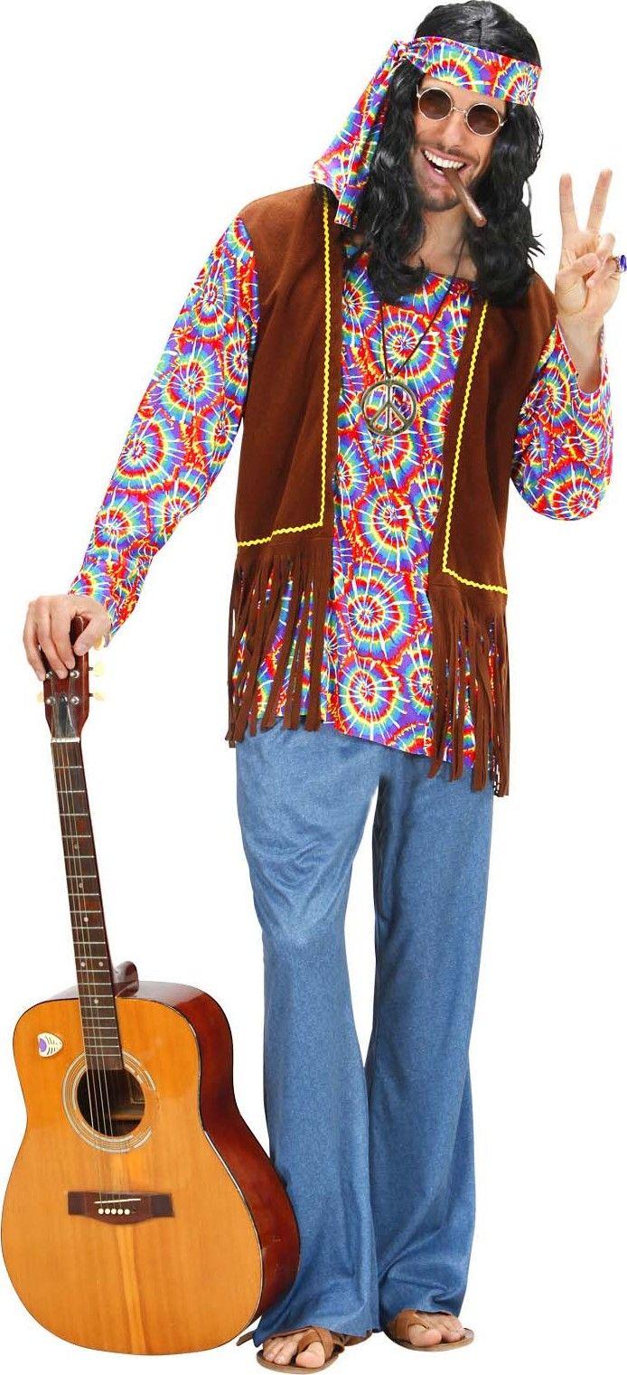 Disfraz hippie psicodélico hombre