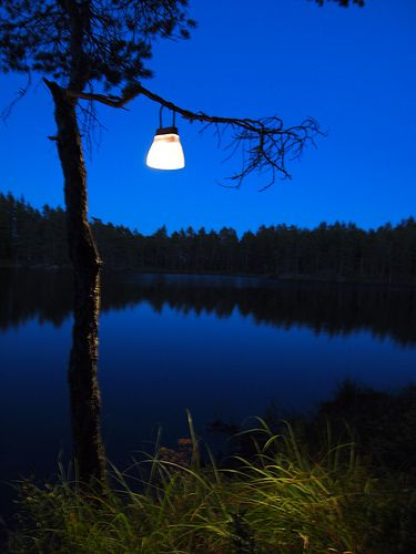 BELL solar lamp - Norwegian wood