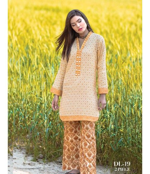 Digital Lawn- Summer Fantacy Kurti Collection By Alkaram DL_19