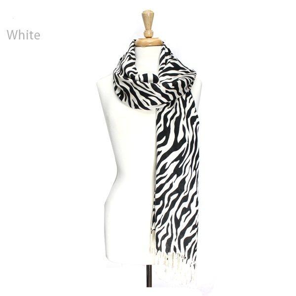 ClassyShoe.Com - Zebra Soft Scarf - White, $14.95 (http://www.classyshoe.com/zebra-soft-scarf-white/)