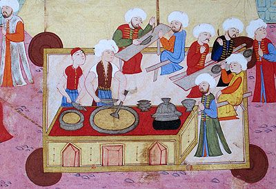 A Turkish Miniature/ Bir Osmanlı Minyatüründe Ahilik #ottoman #turkish #miniature