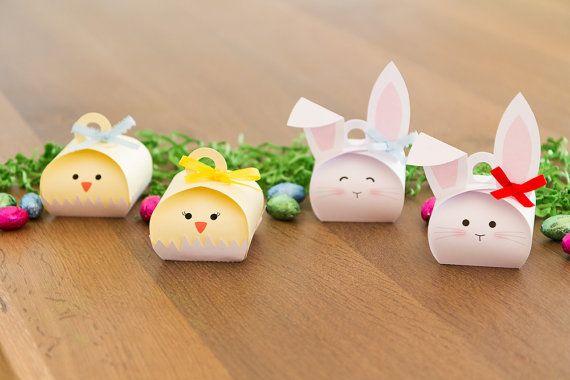 Ostern-gefallen-Boxen Treat-Boxen Hase und von FestivaPartyDesign