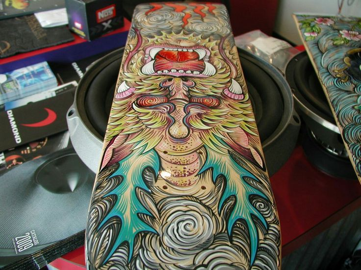 Custom skateboard deck