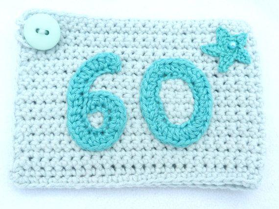 60e tasse de crochet turquoise clair anniversaire confortable