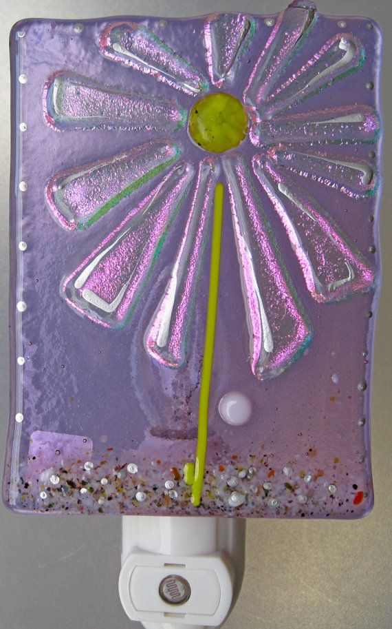 Handmade fused glass night light One of a kind by FusedGlassbyDana, $35.00