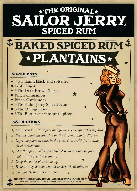 Sailor Jerry's Spiced Rum Plantains
