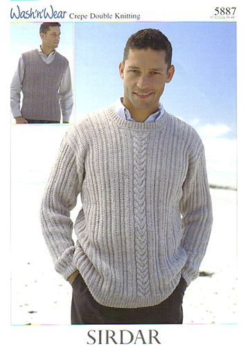 Sirdar 5887 Sweater and Vest for Men in DK Weight/#3