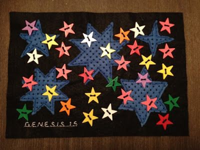 Faith and Felt Obsession: Genesis 15 - Abraham can you count the stars? Quie...