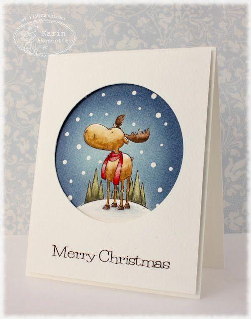 Merry Christ-moose   Nordic Borders Blog Hop Challenge!