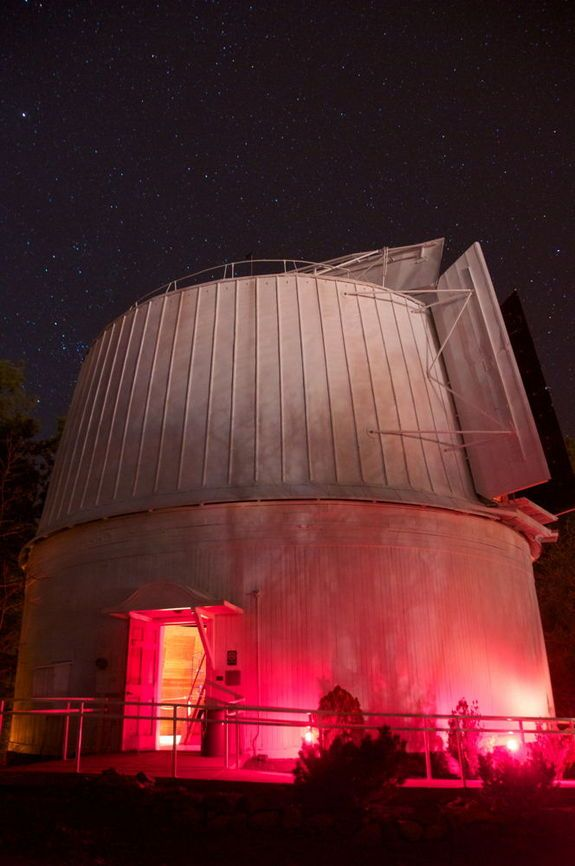 Lowell Observatory in Flagstaff, Arizona. Pluto was discovered here.   Visited with Connie & Mari, March, 2016. We saw the Moon, Orion & Jupiter