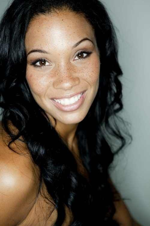 african american women with freckles - Google Search