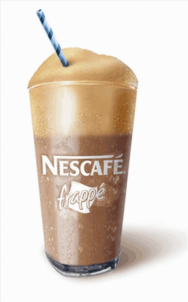 """Greek chilled instant coffee """"Frappé"""" - Accidentally invented in 1957 in  Thessaloniki and has become a hallmark of the post-war outdoor Greek coffee culture"""