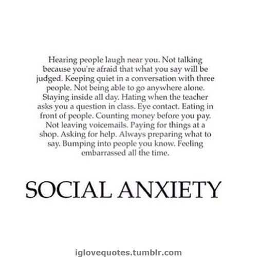 Social anxiety has ruined everything. It's kept me from being myself