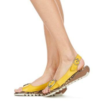 Topánky Ženy Sandále Fly London TRAM žltá
