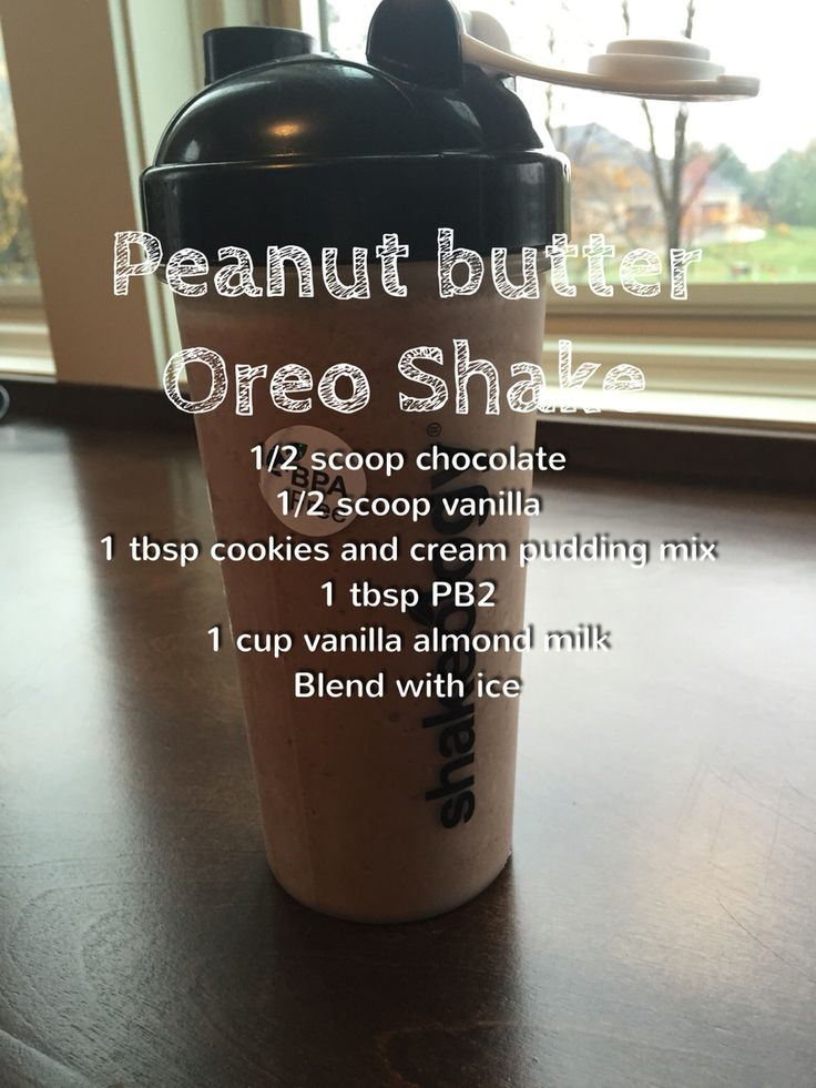 Peanut butter Oreo shakeology - delicious!!- 21 day fix