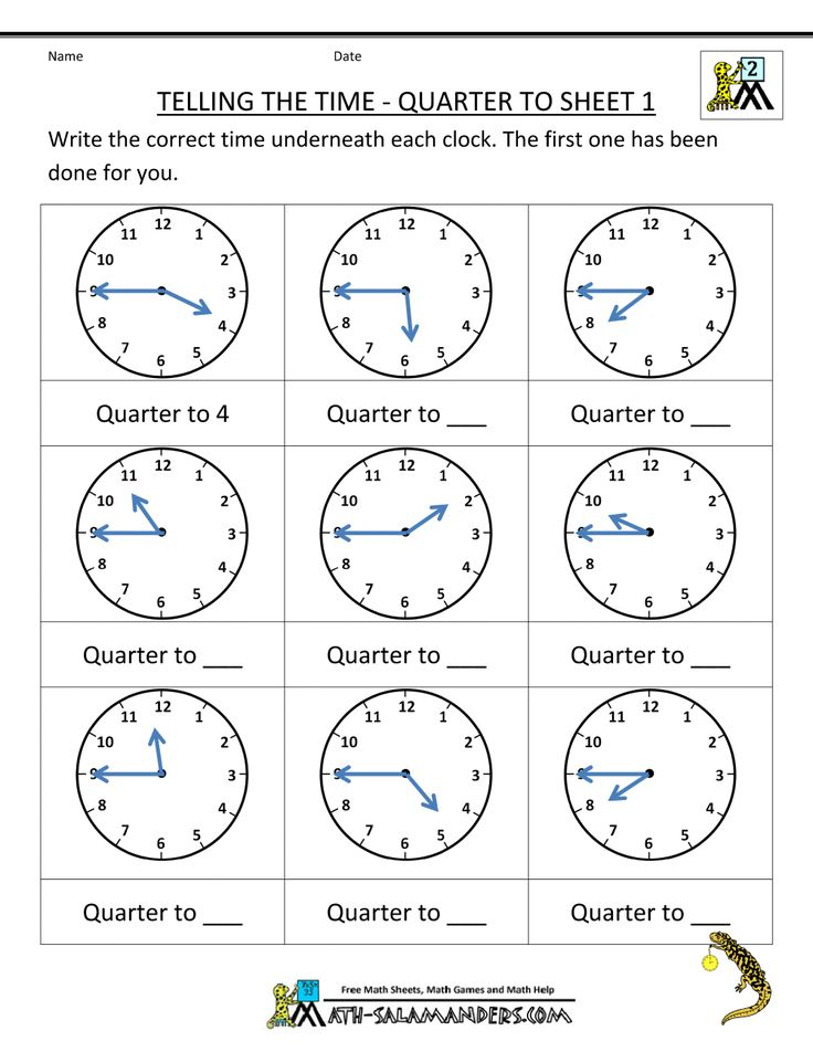 telling time worksheets telling the time quarter to 1