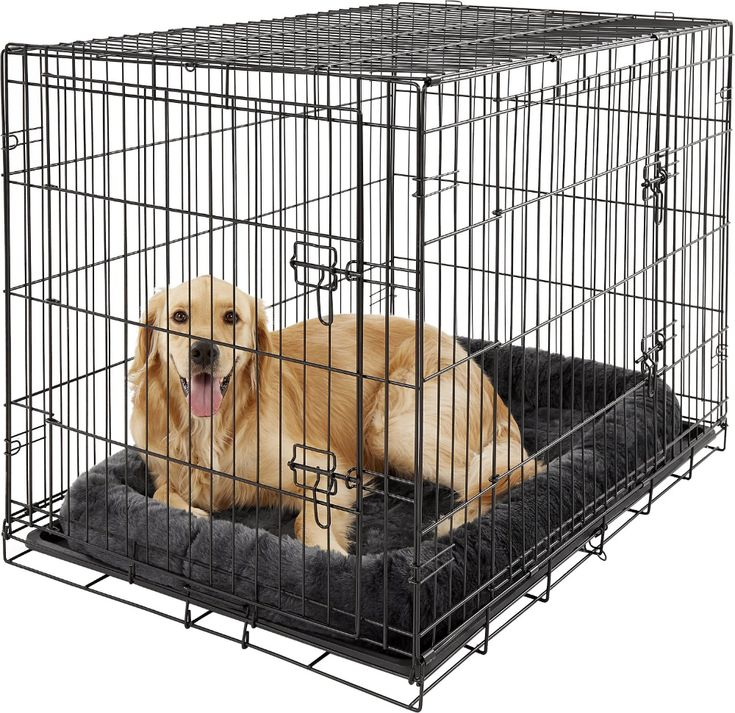 MidWest Quiet Time Fleece Pet Bed and Crate Mat, Gray, 42