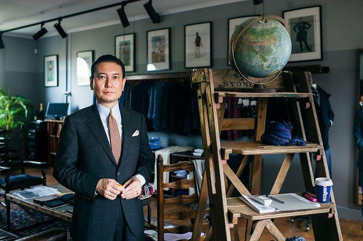 M.J. Bale master tailor Kaneko. Photo: D'Marge