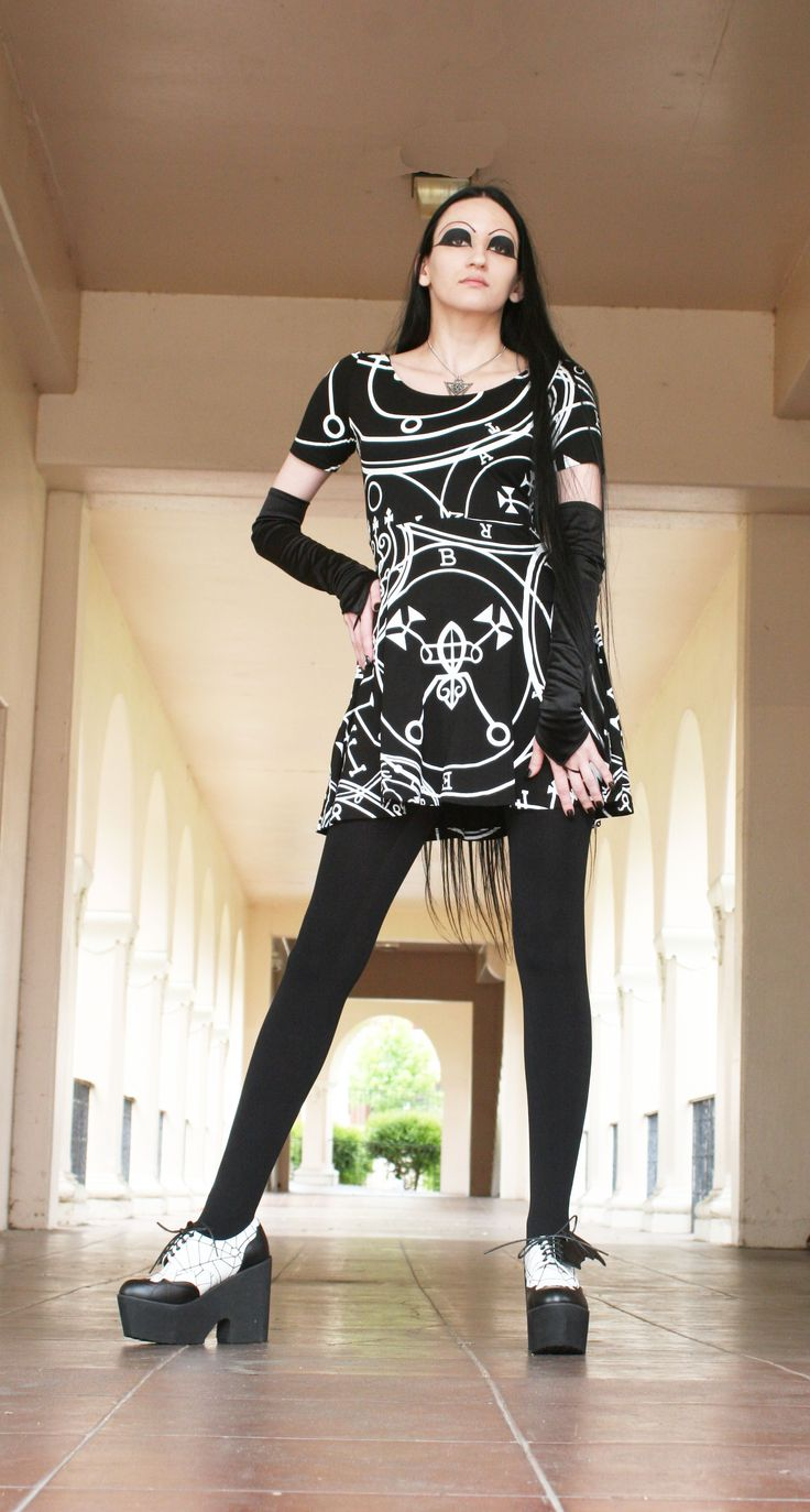 Triana in a Killstar dress from Ipso Facto's Fullerton, CA boutique and www.ipso