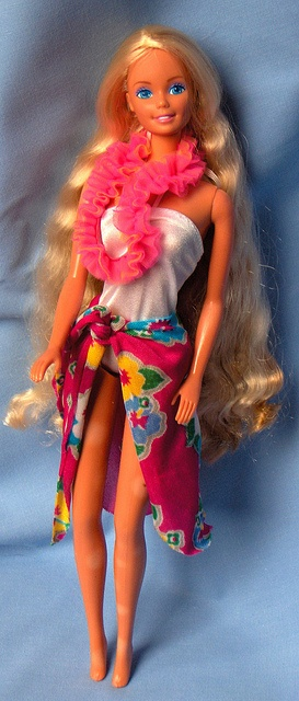 Barbie Island Fun 1987. On goodness. I had this Barbie. Her lei is a hair scrunchie too!