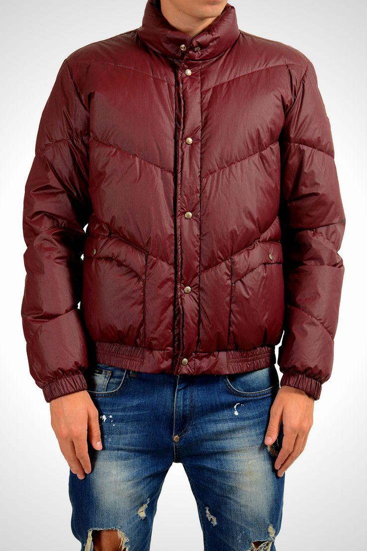 Moncler Men's YADZI Vine Red Down Parka Jacket Moncler Sz