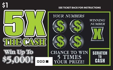 One dollar ticket win up to $5000   Maine State Lottery: Instant Tickets >  5X The Cash