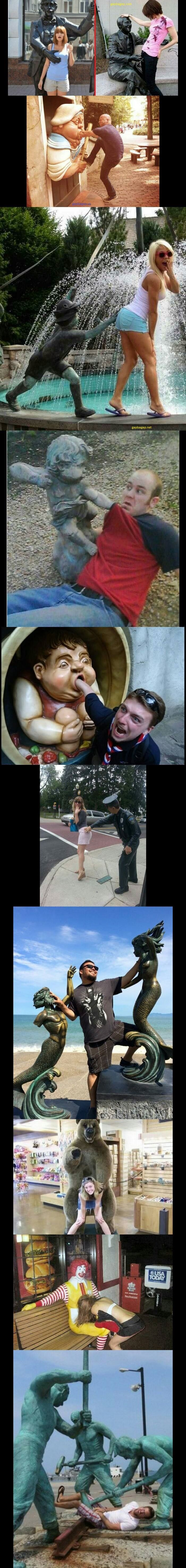 Top 10 Funny Pictures Of People Having Fun With Statues
