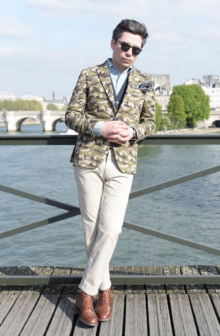Veste Camouflage homme : Daniel Cremieux   #modehomme