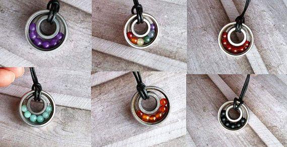 Gemstone bearing necklace multicolor by Cicadella on Etsy