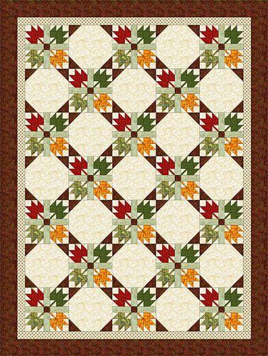 Autumn leaves quilt pattern! Love it!