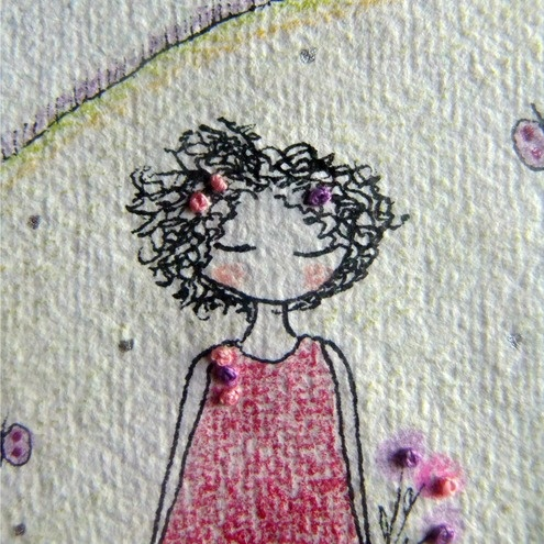 Drawn and embroidered cuteness