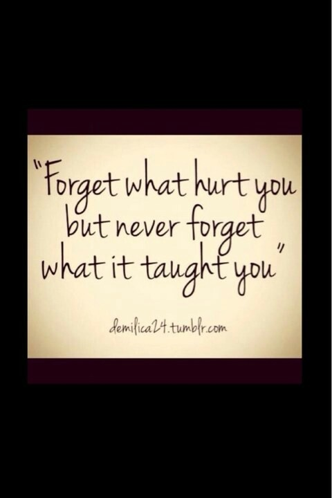 Yes, forget, but learn!