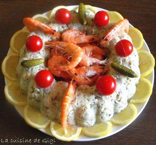 Couronne de poisson sauce ravigote (recette tupperware)