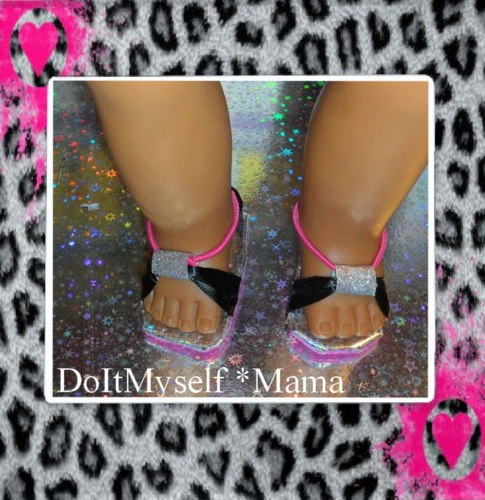 DIY American Girl Doll Shoes ~ Foam, duct tape & ponytail holder* {DoItMyself Mama}