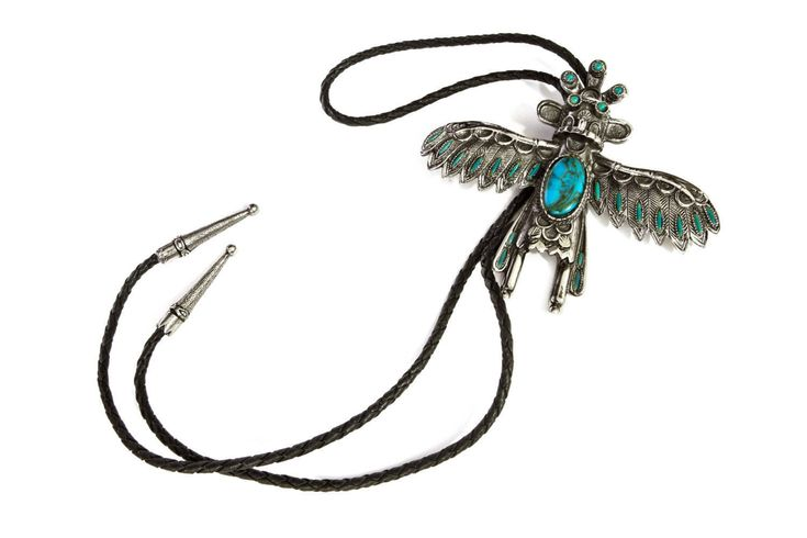 Mens Bolo Tie, Large Kachina Doll, Navajo Style Bolo Tie, Faux Turquoise Stones, Mens Necklace, 80s Native American SW, Sancrest Lariat Neck Tie, Wicca Magic Jewelry, American Southwestern Bolo, Primitive Tribal Bolo, Cowboy Ties, Western Bolo Tie, Thunder Bird Pendant, Kachina Jewelry,