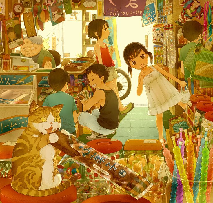 Japanese Candy Store by ~conronca