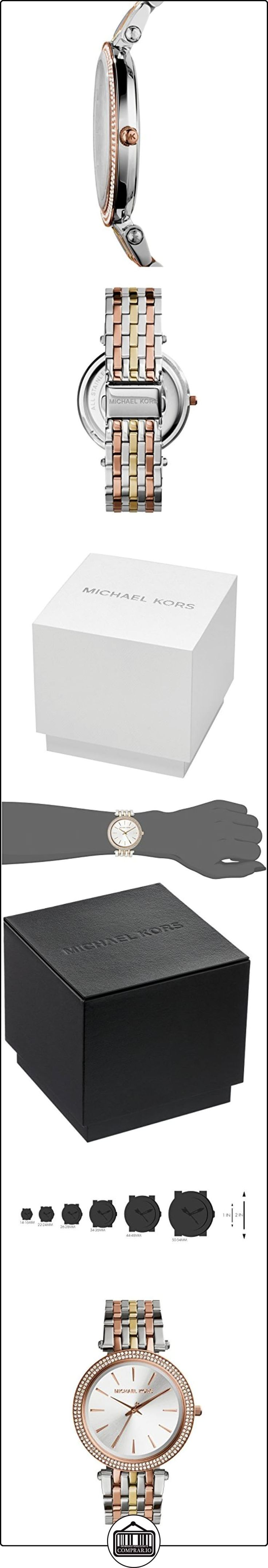 Michael Kors MK3203 - Reloj de cuarzo con correa de acero inoxidable para mujer , multicolor  ✿ Relojes para mujer - (Gama media/alta) ✿