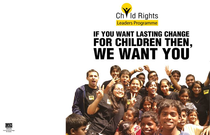 Be a child rights leader in you College.
