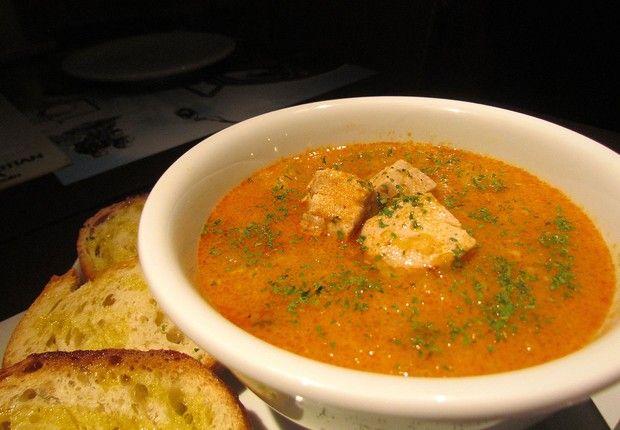 Marmitako, uma das opções de sopas e cremes do menu de inverno do Donostia (Foto: Divulgação)